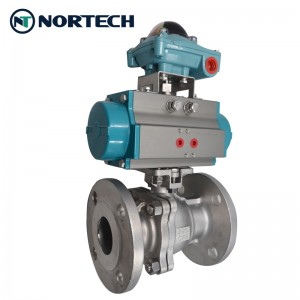 Flanged floating ball valve4