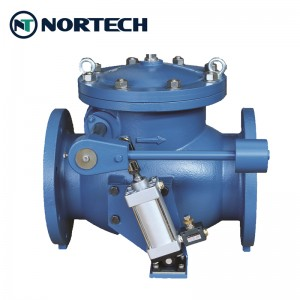 swing-check-valve-with-counterweight-pneumatic actuator